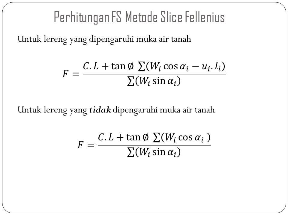 Perhitungan FS Metode Slice Fellenius