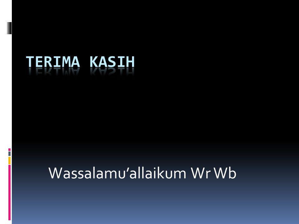 Wassalamu'allaikum Wr Wb