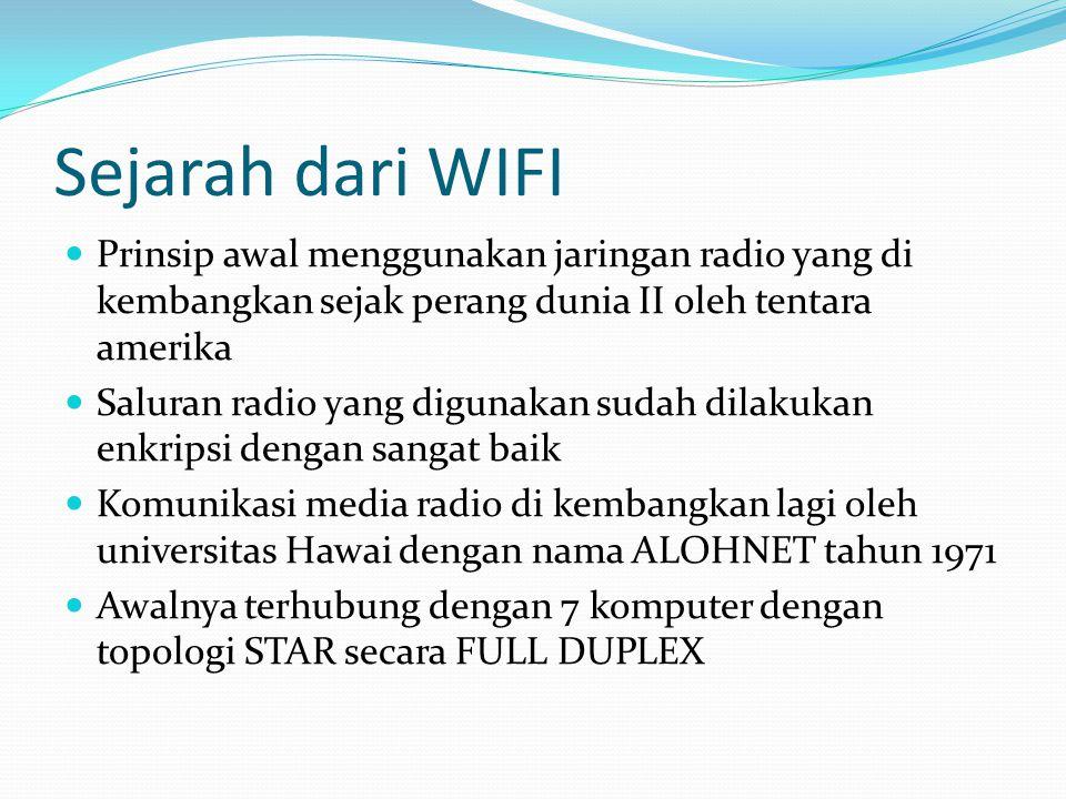 Komponen Wireless LAN Access Point (AP) Bertugas mengirim dan menerima data Buffer data antara wired LAN dgn Wireless LAN Maximal 30 client Jika AP saling overlap maka ROAMING dapat terjadi Roaming merupakan kemampuan client untuk berpindah tanpa kehilangan kontak dengan jaringan