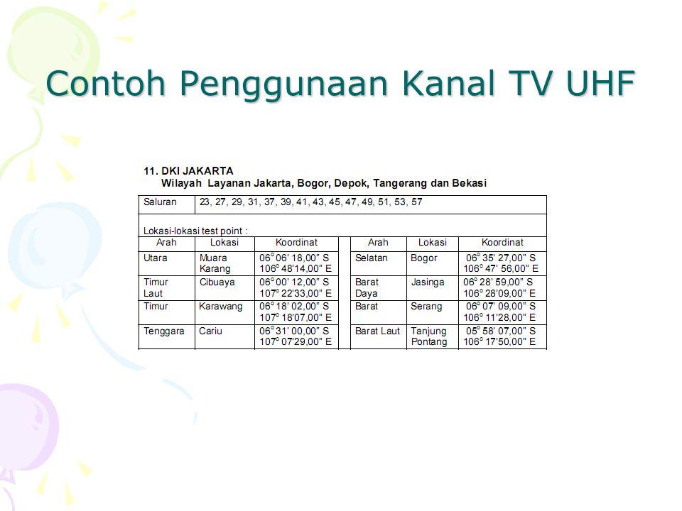 Contoh Penggunaan Kanal TV UHF