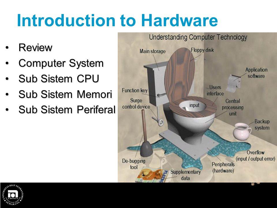 Review Review Computer System Computer System Sub Sistem CPU Sub Sistem CPU Sub Sistem Memori Sub Sistem Memori Sub Sistem Periferal Sub Sistem Perife