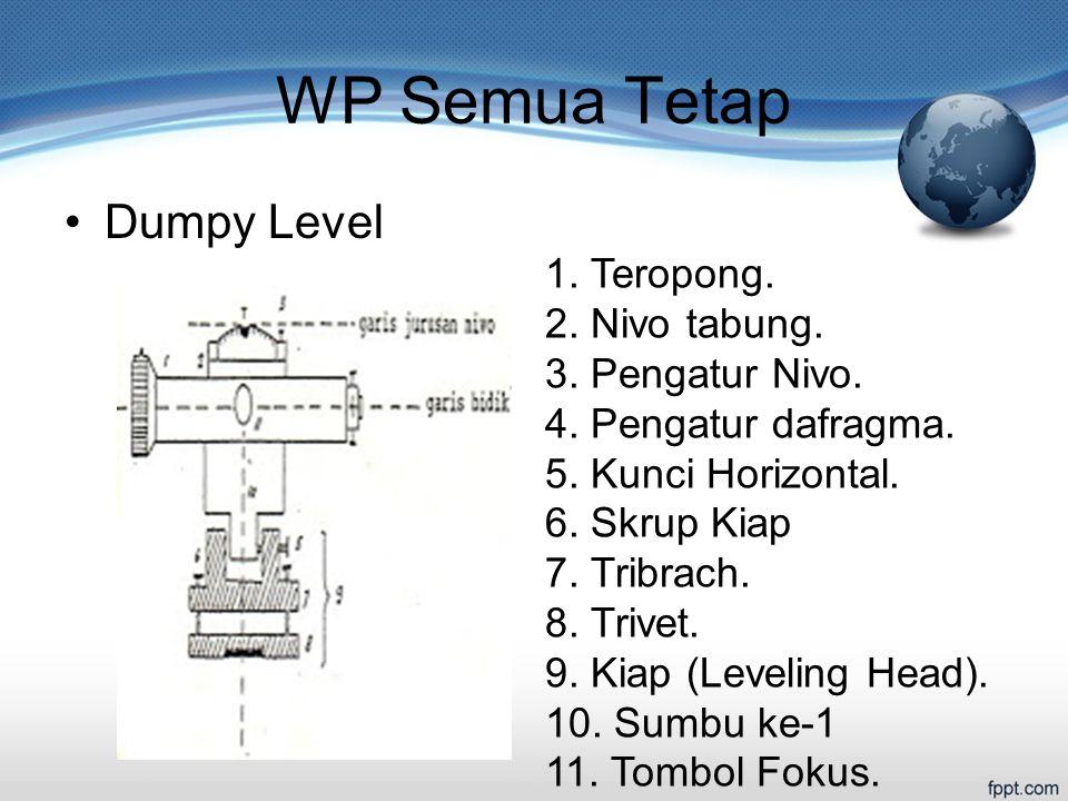 WP Semua Tetap Dumpy Level 1.Teropong. 2. Nivo tabung.