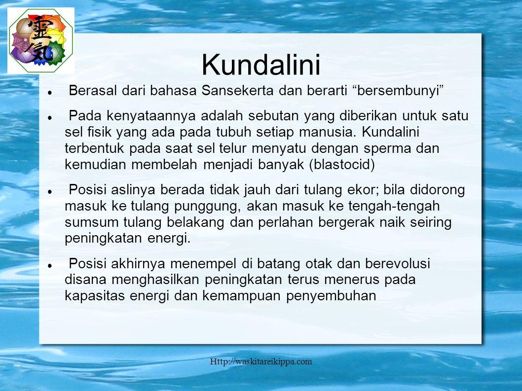 Http://waskitareikippa.com Kundalini Berasal dari bahasa Sansekerta dan berarti bersembunyi Pada kenyataannya adalah sebutan yang diberikan untuk satu sel fisik yang ada pada tubuh setiap manusia.
