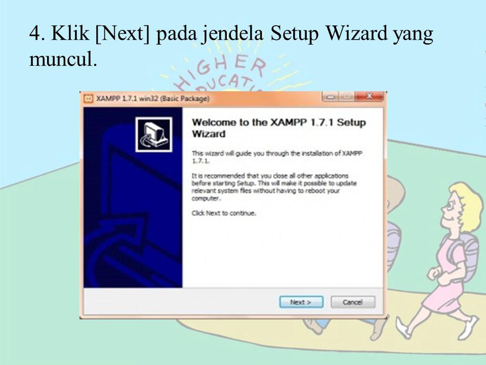 5.Berikutnya Anda diminta memilih folder tempat XAMPP dipasang.