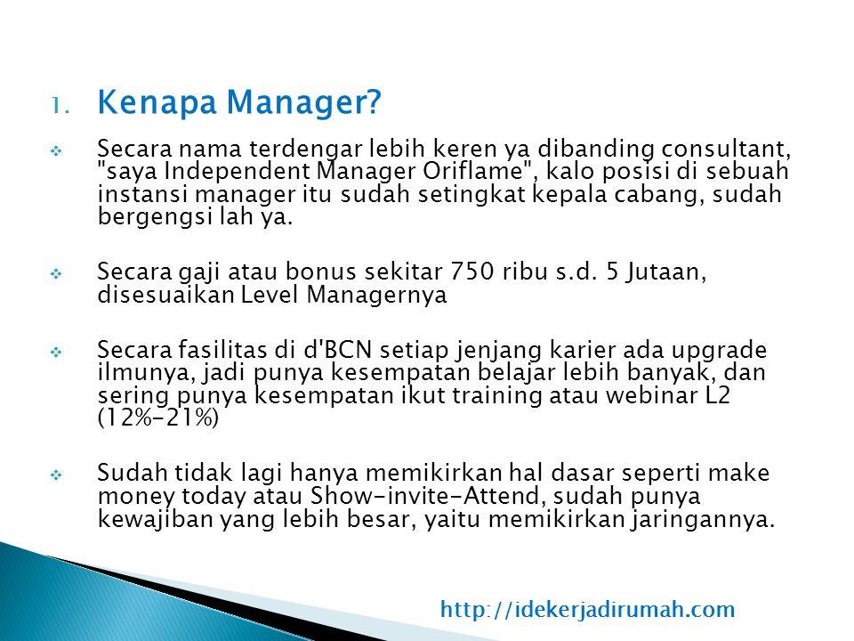 1. Kenapa Manager?  Secara nama terdengar lebih keren ya dibanding consultant,