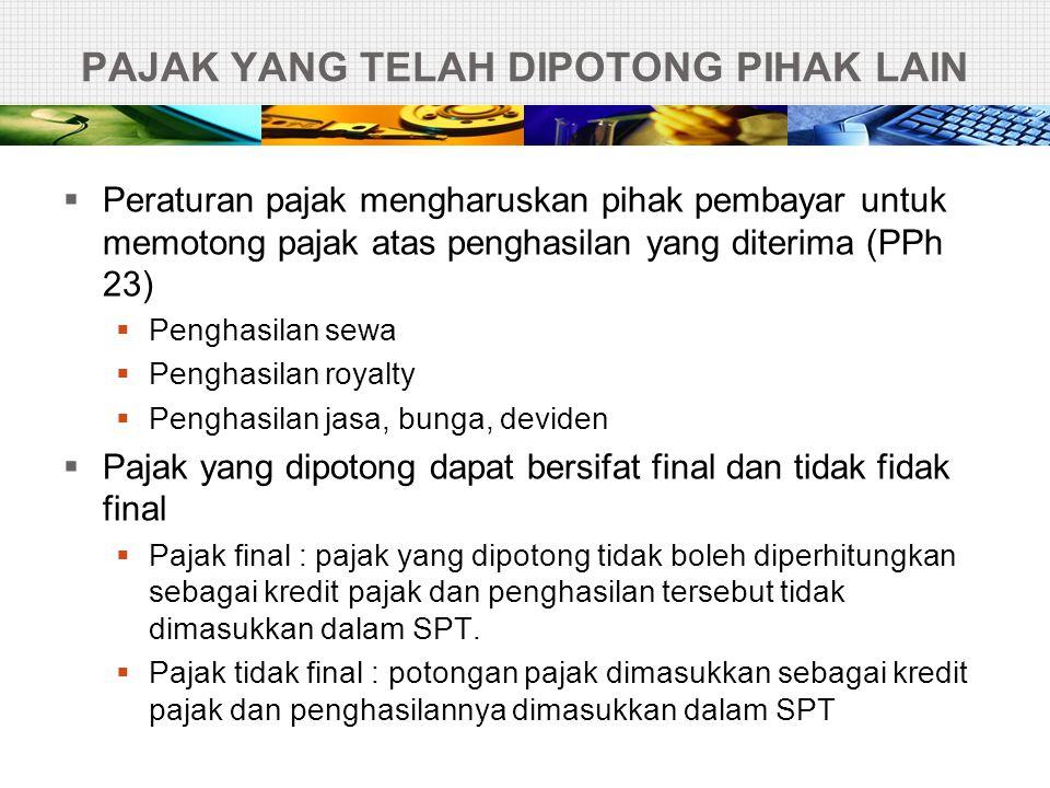 PPN  PPN = pajak pertambahan nilai  PPN dikenakan atas setiap penyerahan barang kena pajak yang dilakukan oleh Pengusaha Kena Pajak.
