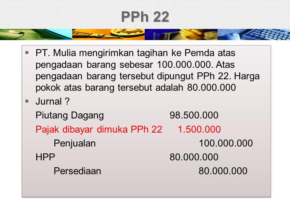 Pajak Perusahaan  Perusahaan memperoleh PKP sebesar 2.000juta.