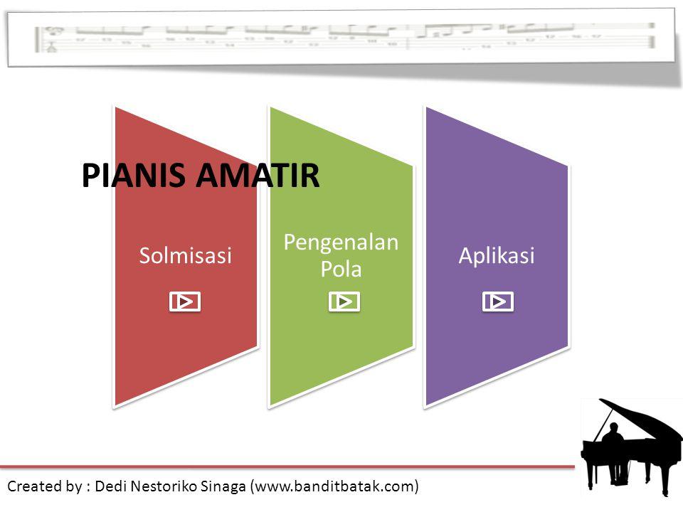 Solmisasi Pengenalan Pola Aplikasi PIANIS AMATIR Created by : Dedi Nestoriko Sinaga (www.banditbatak.com)