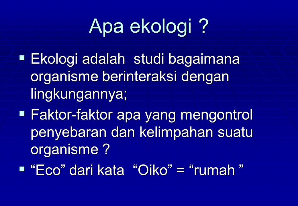 10 Berasal dari Kata latin yakni Oeco (Yunani, oikos= rumah) dan logos ( ilmu).