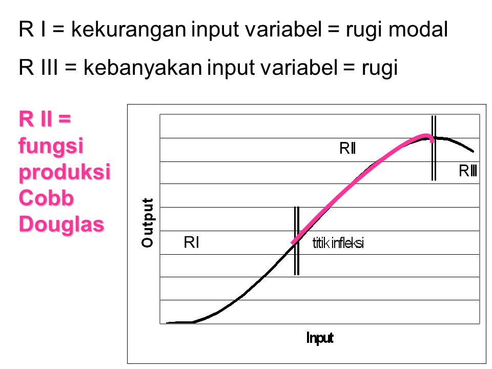 Penawaran Mikro apakah produktivitas marginal yang menurun (R II) realistis.