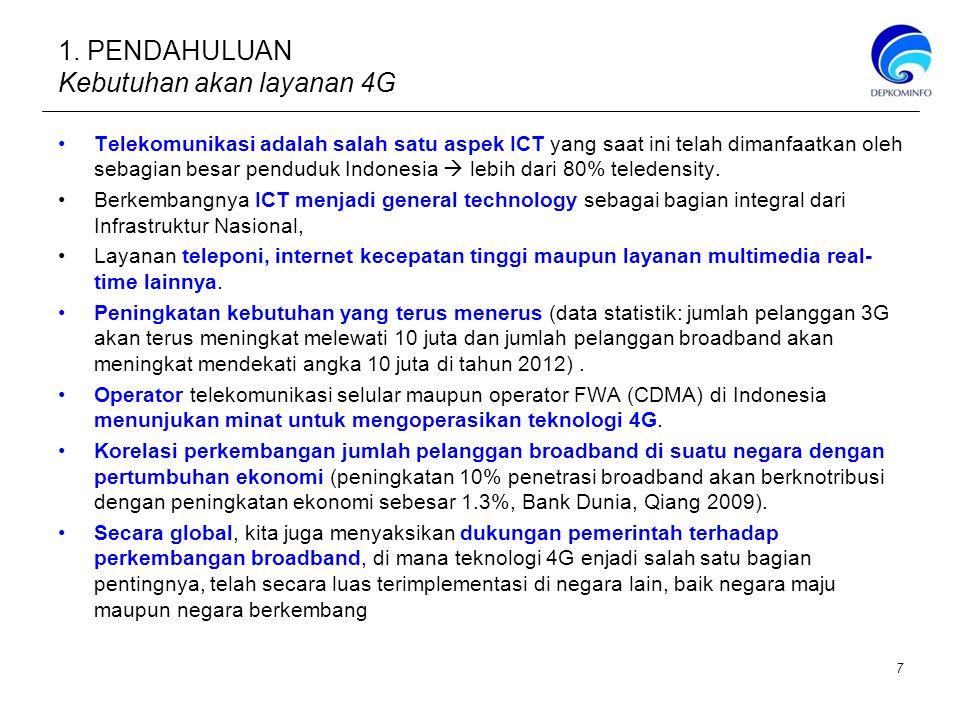 1. PENDAHULUAN Kebutuhan akan layanan 4G Telekomunikasi adalah salah satu aspek ICT yang saat ini telah dimanfaatkan oleh sebagian besar penduduk Indo