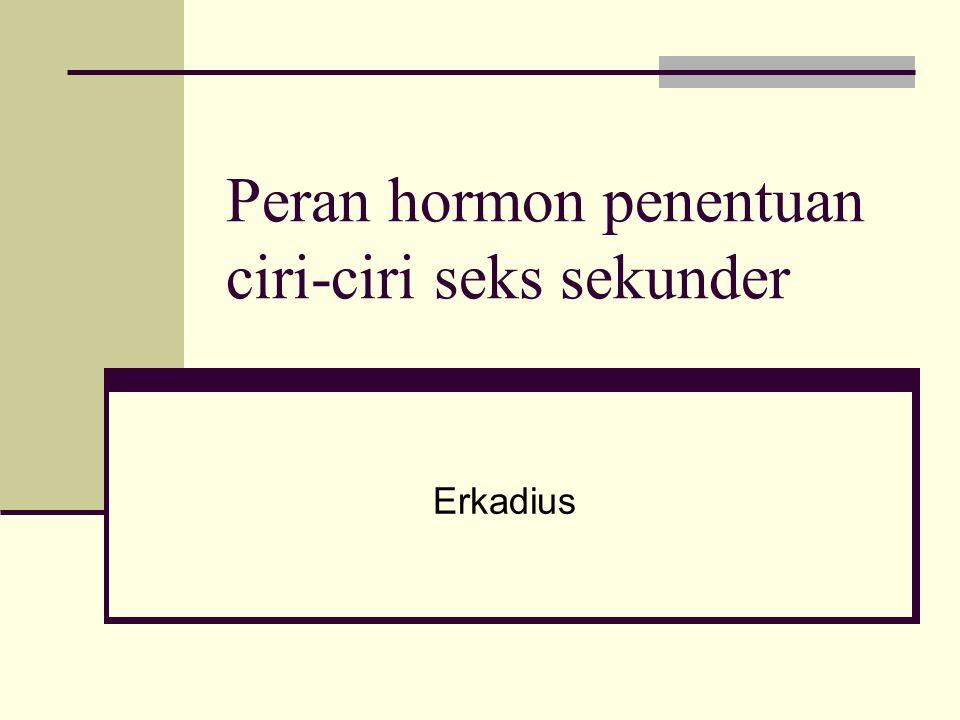 Peran hormon penentuan ciri-ciri seks sekunder Erkadius