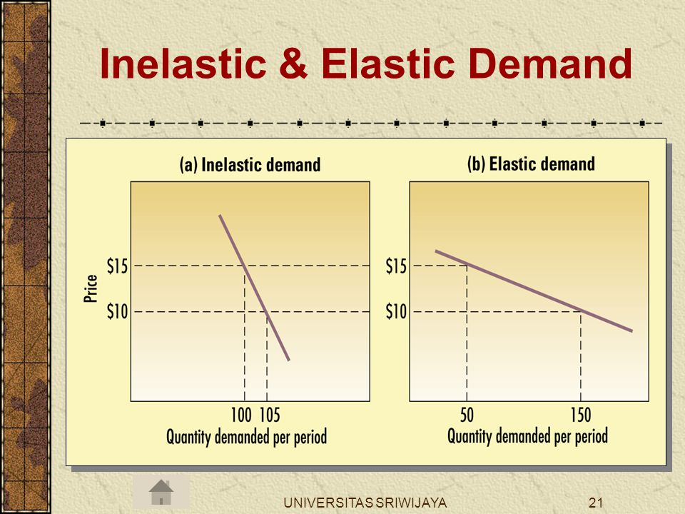 UNIVERSITAS SRIWIJAYA21 Inelastic & Elastic Demand