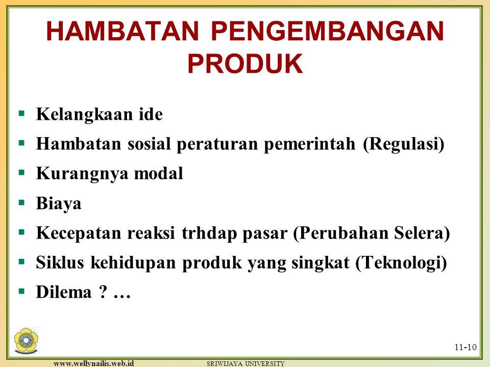 www.wellynailis.web.id SRIWIJAYA UNIVERSITY 11-9 PRODUCT DEVELOPMENT PROCESS