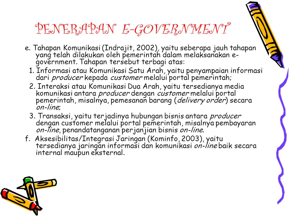 PENERAPAN E-GOVERNMENT e.