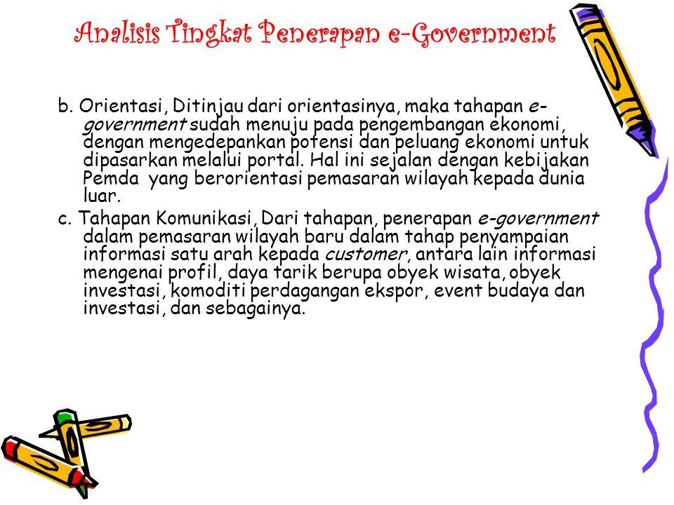 Analisis Tingkat Penerapan e-Government d.