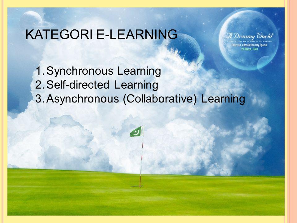 Teknologi pendukung e-learning 1.Computer based learning ( CBL ) 2.Computer assisted learning ( CAL ) Komponen e-learning 1.E-learning system 2.E-lear