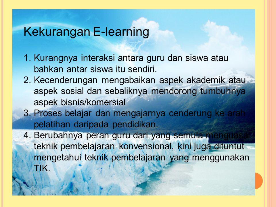Lanjutan 4. Bila siswa memerlukan tambahan informasi yang berkaitan dengan bahan yang dipelajarinya. 5. guru maupun siswa dapat melakukan diskusi mela