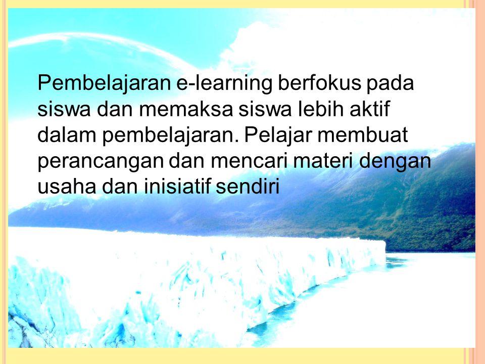 Perbedaan pembelajaran tradisional dengan e-learning dalam kelas tradisional guru dianggap sebagai seorang yang lebih tau dan bertugas menyalurkan ilm