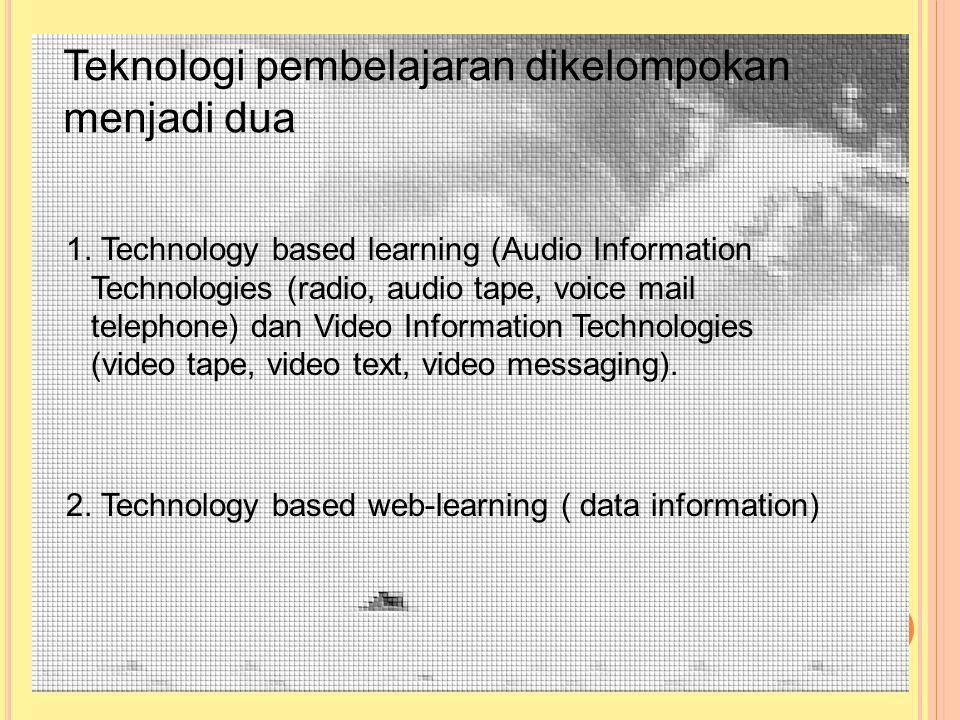 Teknologi pembelajaran dikelompokan menjadi dua 1.