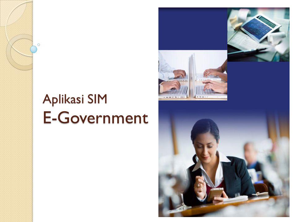 Aplikasi SIM E-Government