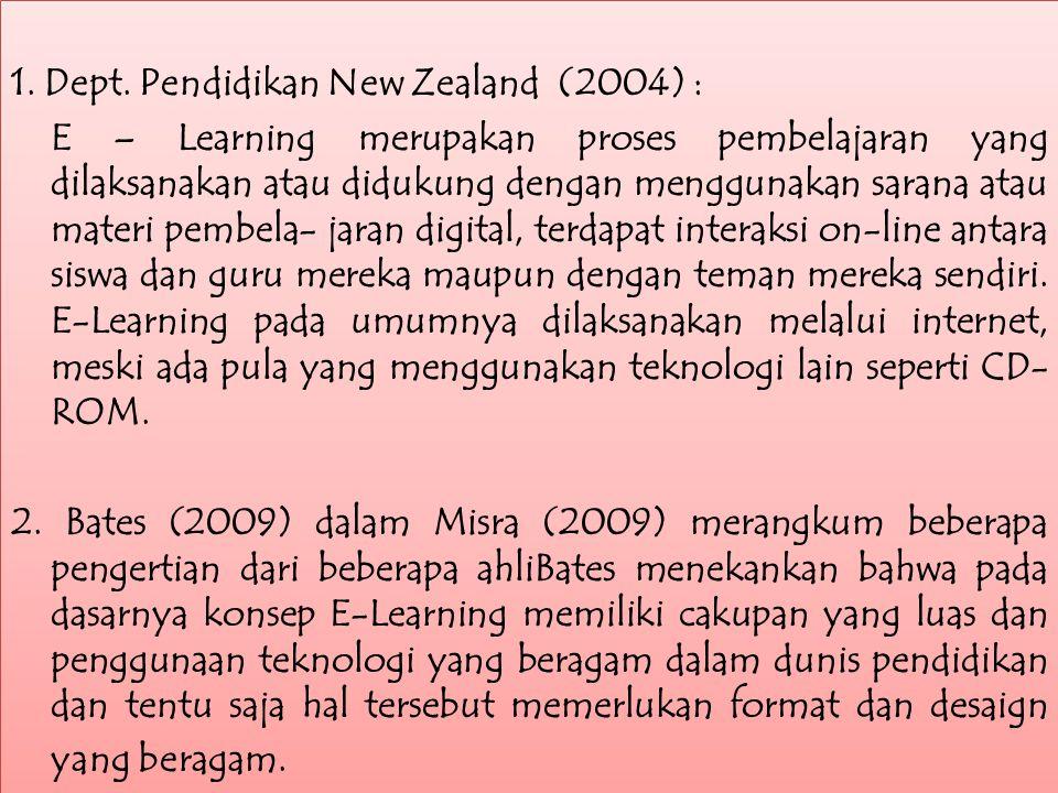 E – Learning berasal dari kata electronic atau elektronik dan learning atau pembelajaran.