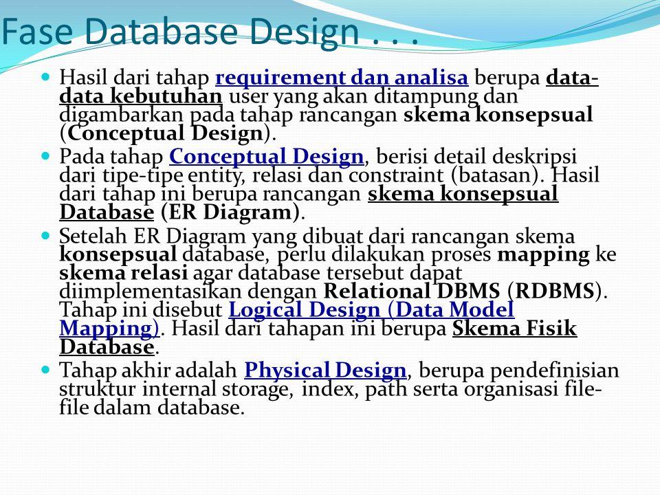 Fase Database Design...