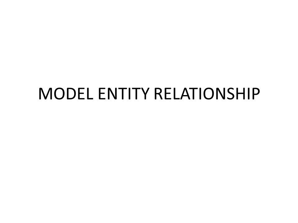 Model Entity-Relationship (ER) Model Entity-Relationship adalah model data konseptual tingkat tinggi untuk perancangan basis data.