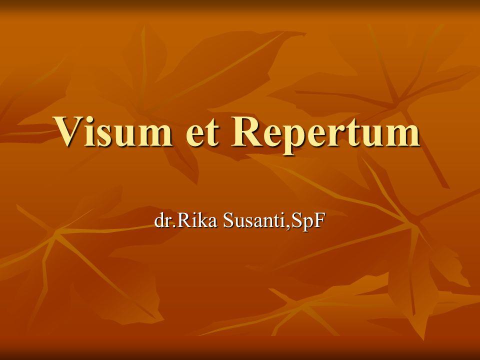 SCOPE OF DISCUSSION TERMINOLOGY TERMINOLOGY PROCEDURE PROCEDURE THE ROLE OF VISUM ET REPERTUM THE ROLE OF VISUM ET REPERTUM TYPE OF VISUM ET REPERTUM TYPE OF VISUM ET REPERTUM STRUCTURE AND CONTENT STRUCTURE AND CONTENT CONCLUSION CONCLUSION CONFIDENTIALITY CONFIDENTIALITY