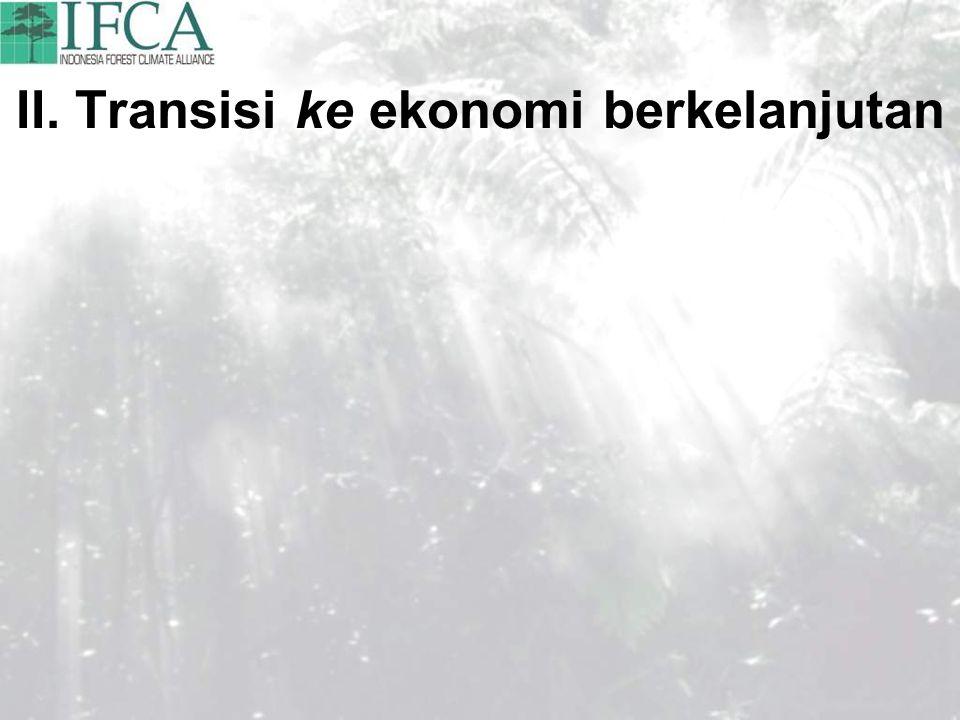 II. Transisi ke ekonomi berkelanjutan