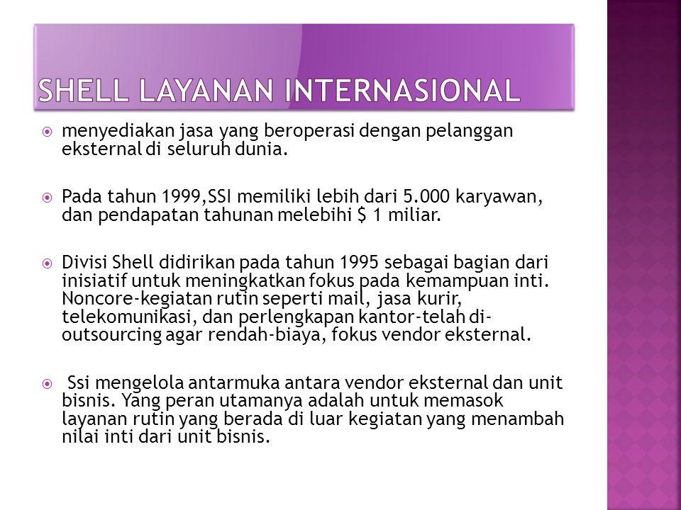  menyediakan jasa yang beroperasi dengan pelanggan eksternal di seluruh dunia.  Pada tahun 1999,SSI memiliki lebih dari 5.000 karyawan, dan pendapat