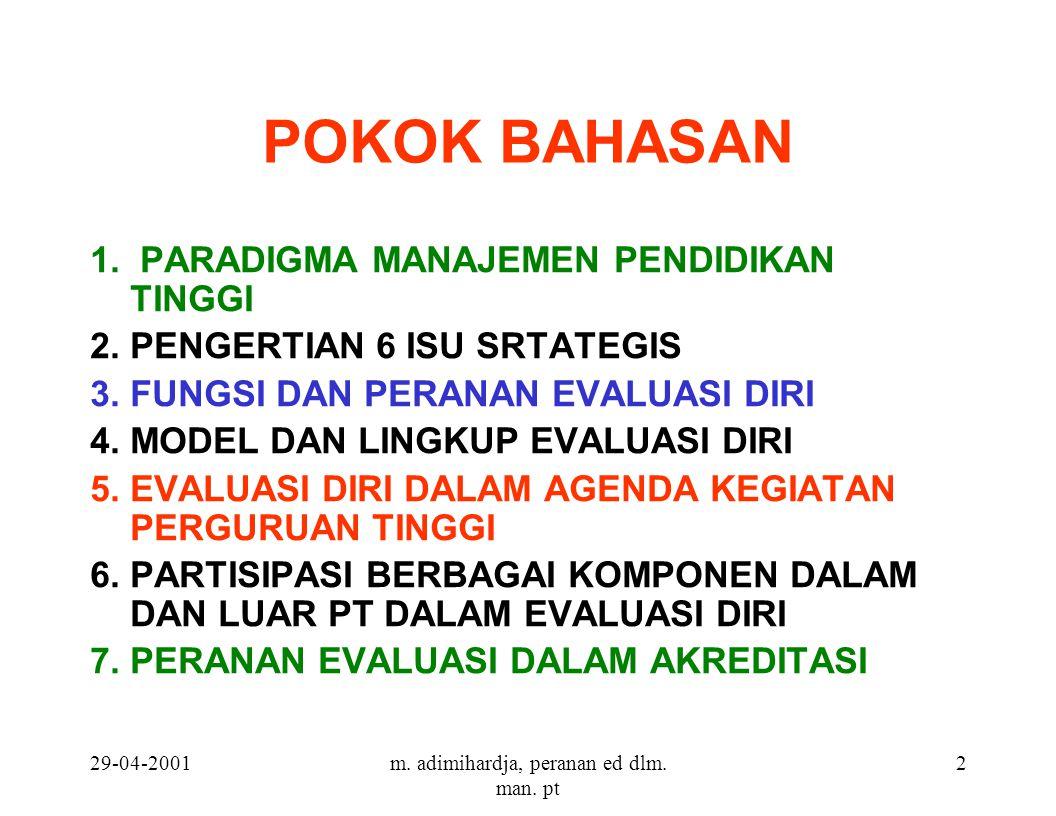29-04-2001m. adimihardja, peranan ed dlm. man. pt 2 POKOK BAHASAN 1.