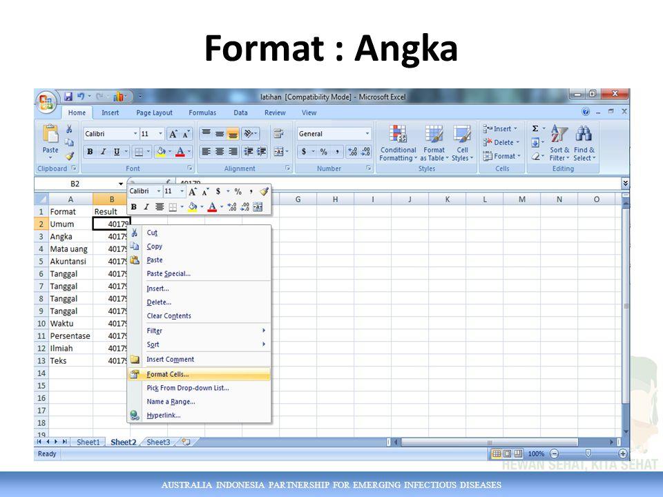 Format : Angka