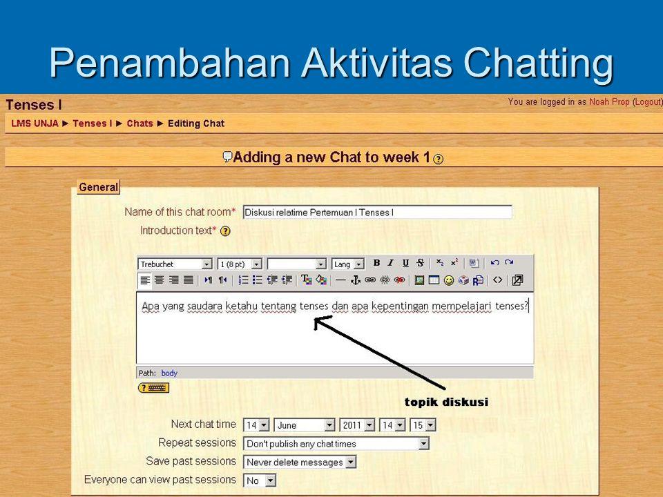 Penambahan Aktivitas Chatting