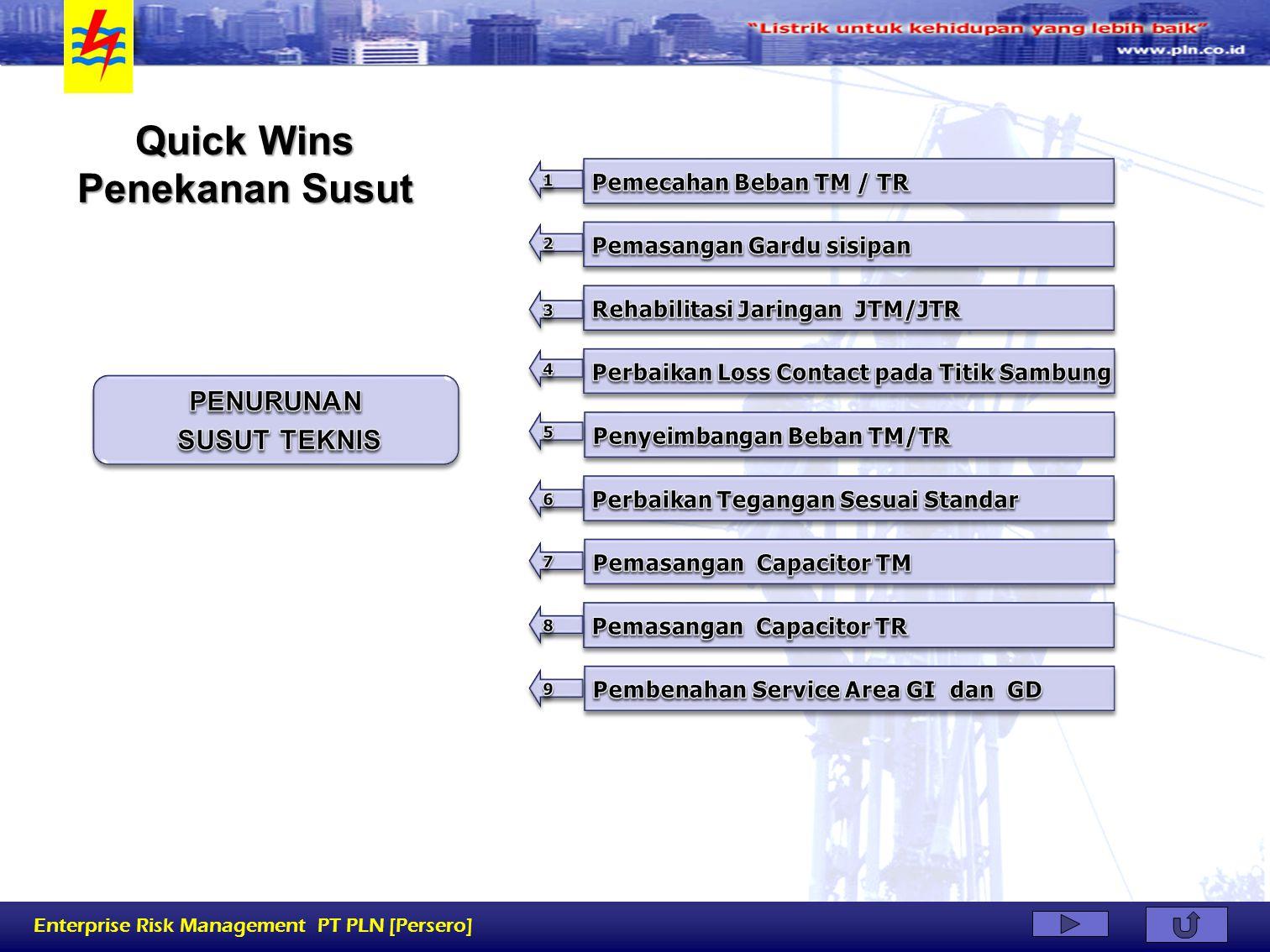 Enterprise Risk Management PT PLN [Persero] Quick Wins Penekanan Susut