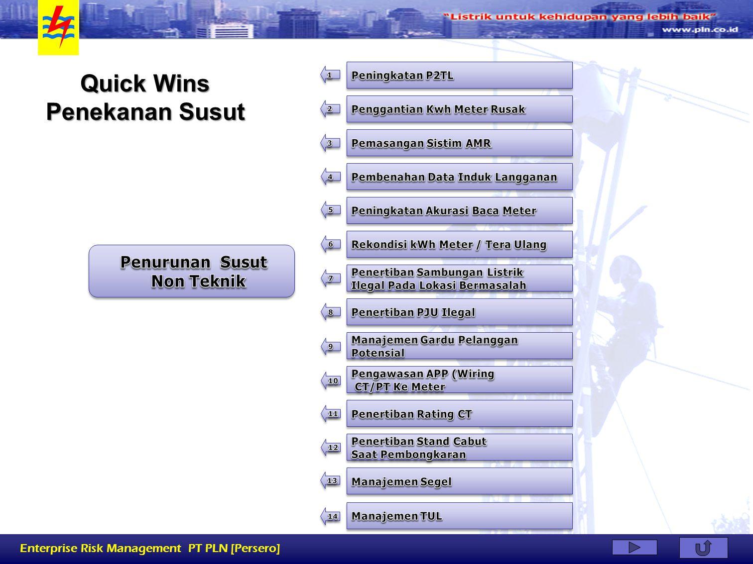 Enterprise Risk Management PT PLN [Persero] Quick Wins Di bidang Penagihan