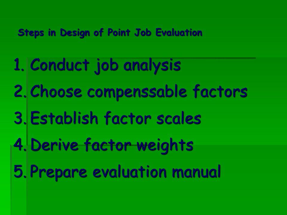 Dengan cara itu, bobot tingkatan jenis faktor jabatan akan terlihat sebagai berikut: No.