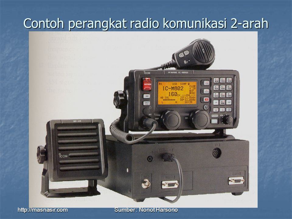 http://masnasir.comSumber : Nonot Harsono Contoh perangkat radio komunikasi 2-arah