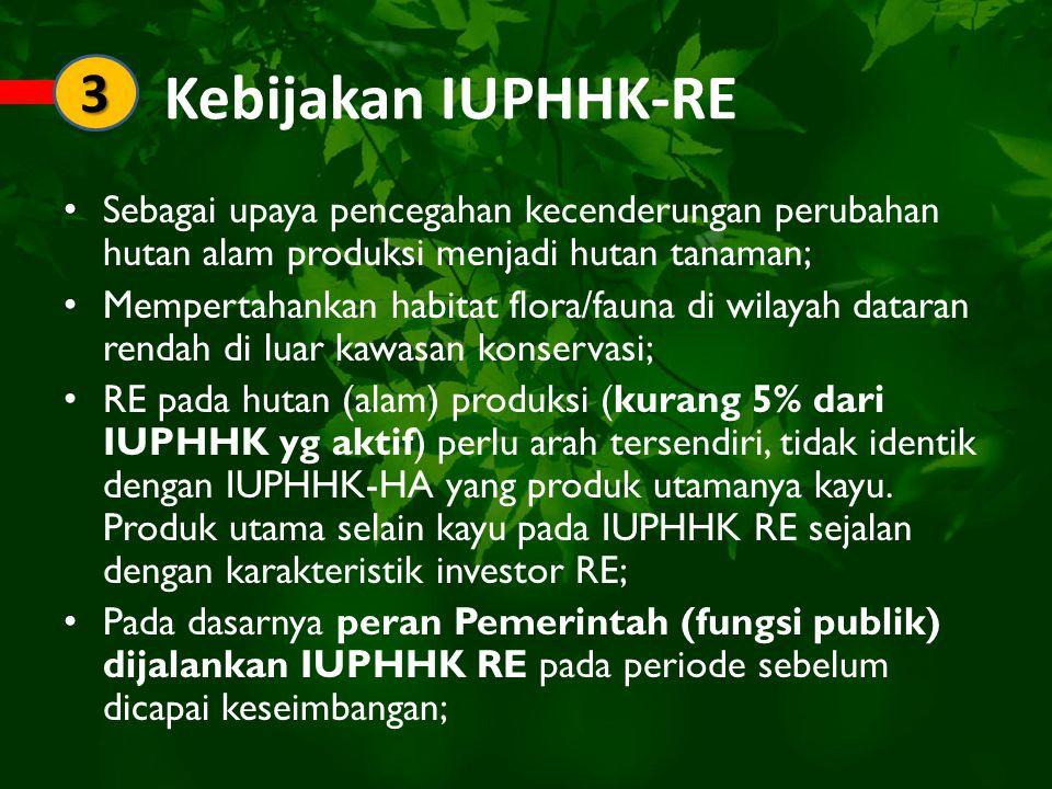 Catatan: P 56/2009-P 24/11 Yang dihadapi RKU-RE adalah hutan alam produksi tidak homogen dan prioritas kerja bukan hanya kayu.