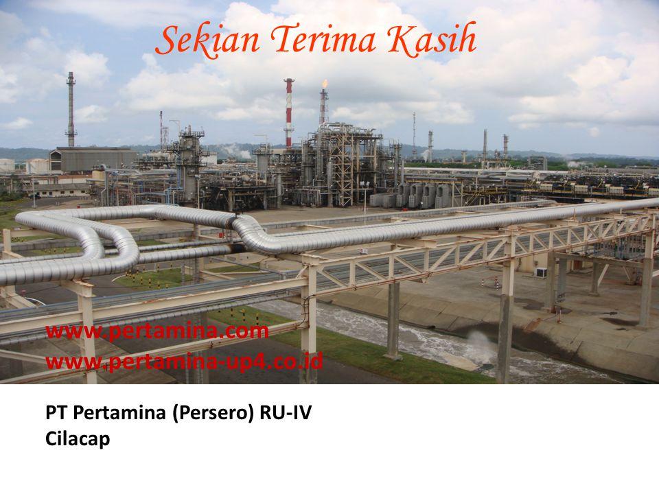 Sekian Terima Kasih PT Pertamina (Persero) RU-IV Cilacap www.pertamina.com www.pertamina-up4.co.id