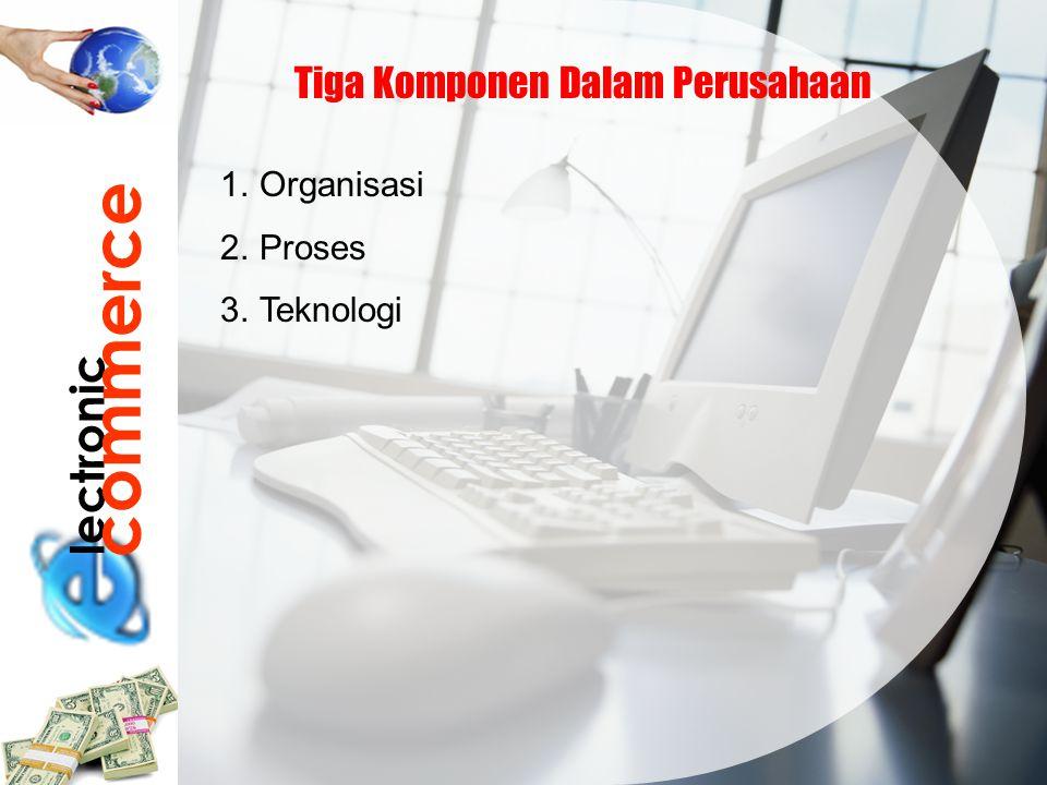 lectronic commerce Tiga Komponen Dalam Perusahaan 1.Organisasi 2.Proses 3.Teknologi