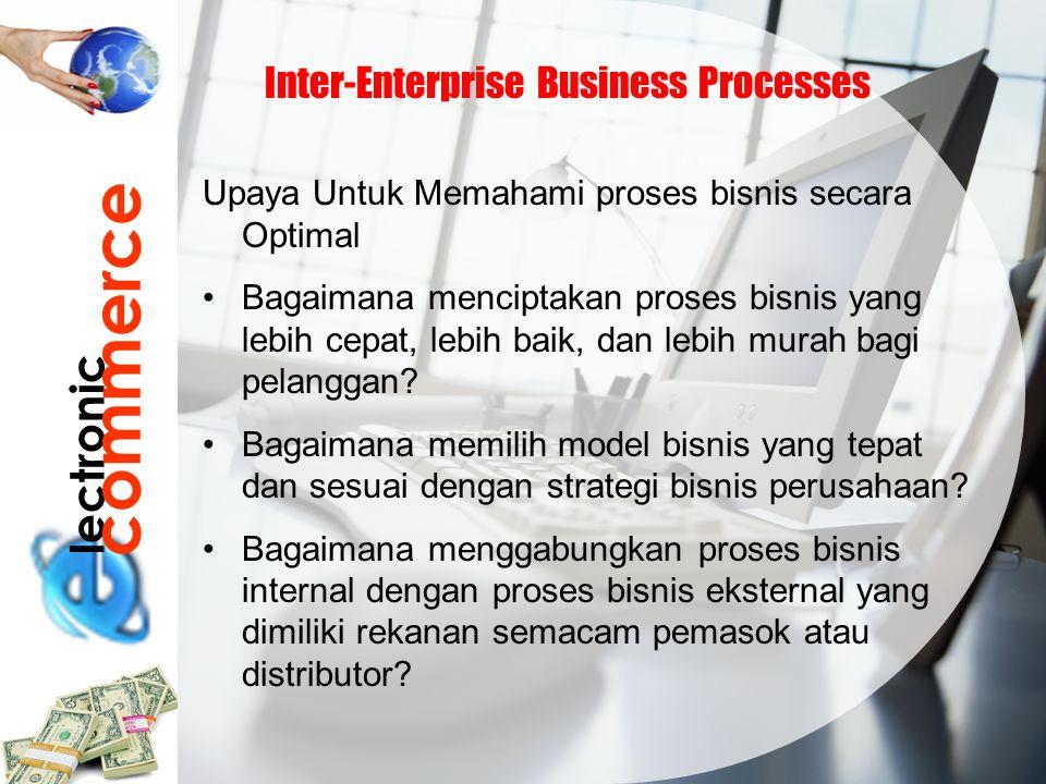 lectronic commerce Inter-Enterprise Business Processes Upaya Untuk Memahami proses bisnis secara Optimal Bagaimana menciptakan proses bisnis yang lebi