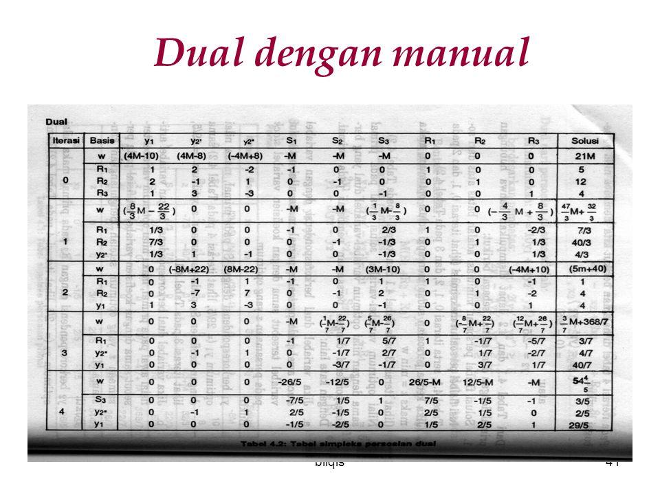 bilqis41 Dual dengan manual