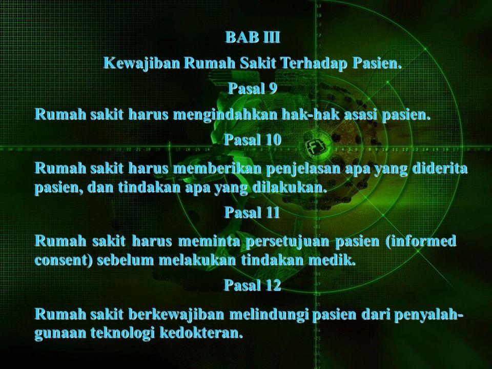 BAB III Kewajiban Rumah Sakit Terhadap Pasien.