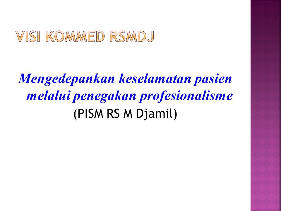 Mengedepankan keselamatan pasien melalui penegakan profesionalisme (PISM RS M Djamil)