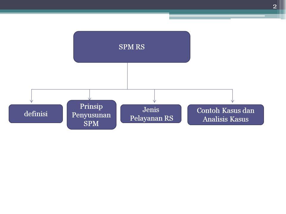 2 SPM RS definisi Prinsip Penyusunan SPM Jenis Pelayanan RS Contoh Kasus dan Analisis Kasus