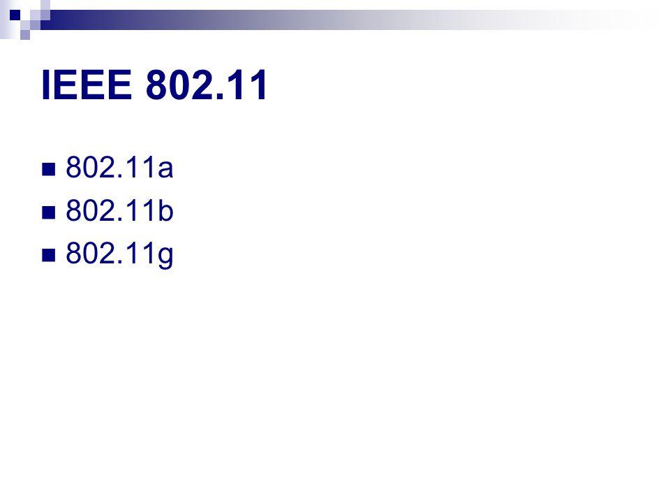 IEEE 802.11 802.11a 802.11b 802.11g