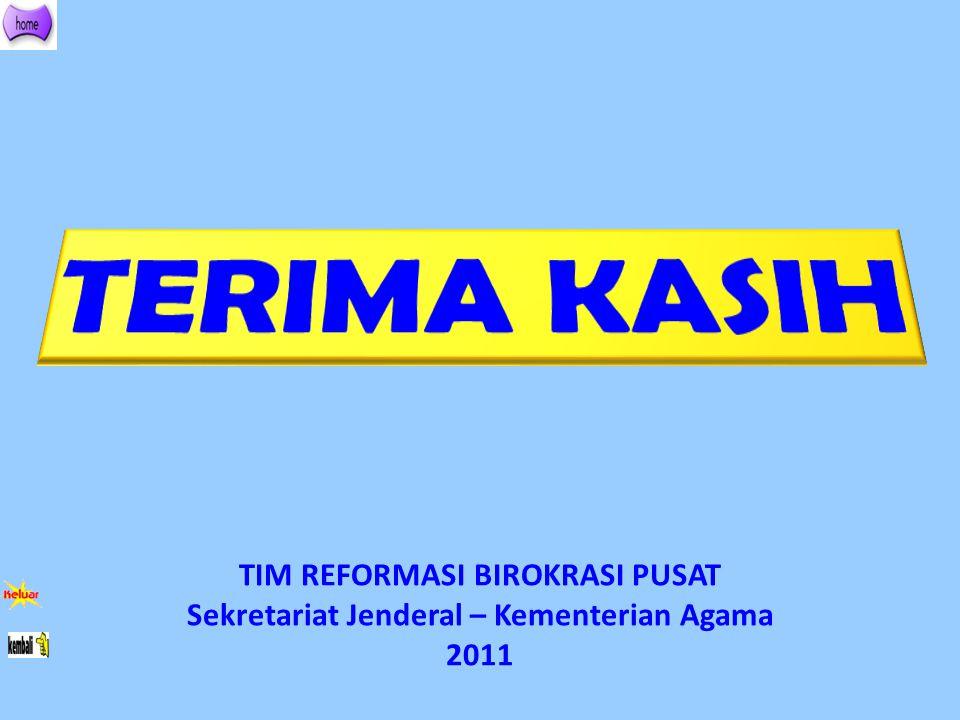 TIM REFORMASI BIROKRASI PUSAT Sekretariat Jenderal – Kementerian Agama 2011
