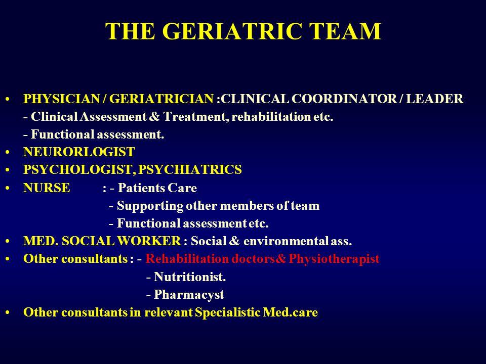 Kelompok usia lanjut cepat atau lambat memerlukan Rehabilitasi Medis