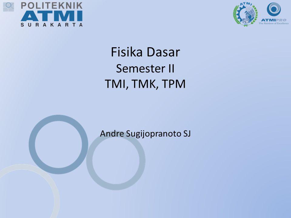 Fisika Dasar Semester II TMI, TMK, TPM Andre Sugijopranoto SJ
